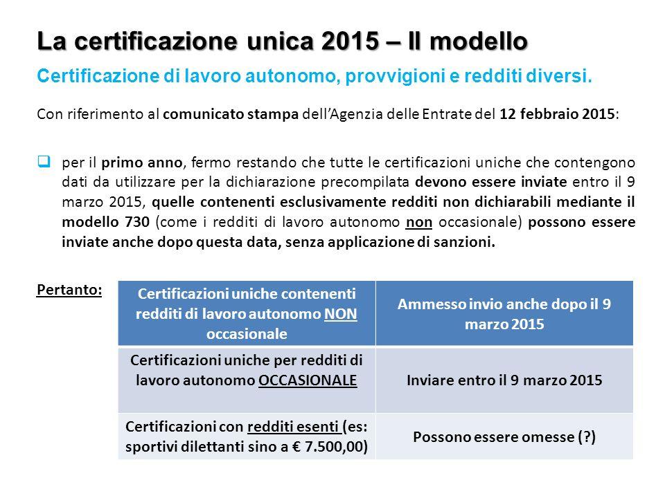 Compensazione delle imposte e certificazione unica ppt scaricare - Certificazione lavoro autonomo provvigioni e redditi diversi causale a ...