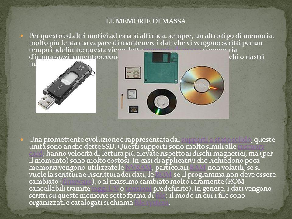 LE MEMORIE DI MASSA
