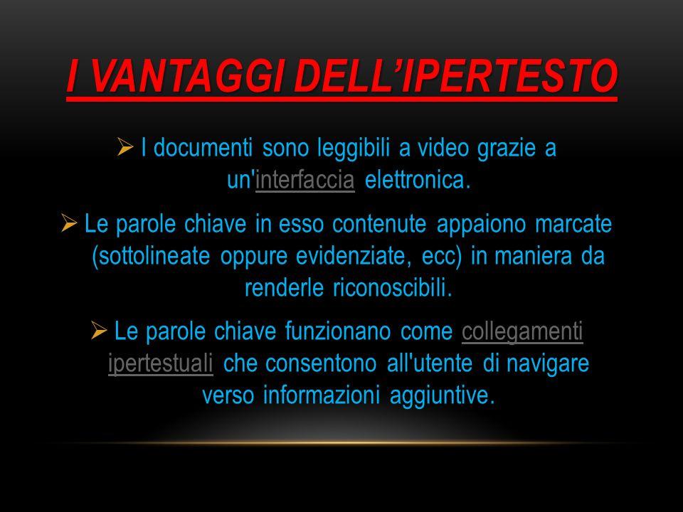 I VANTAGGI DELL'IPERTESTO