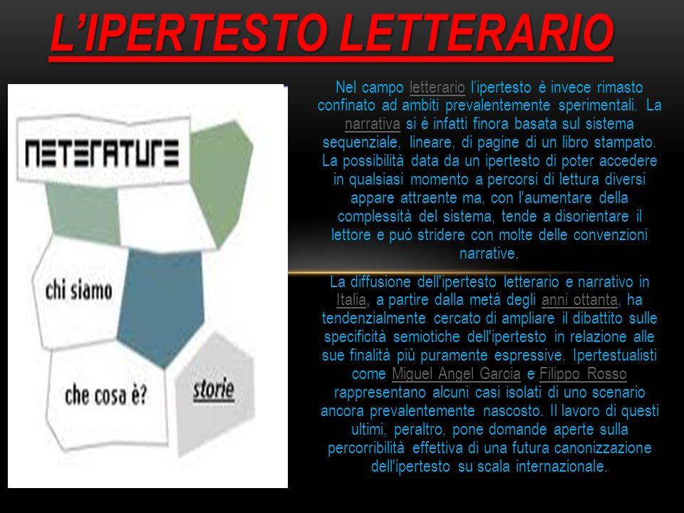 L'IPERTESTO LETTERARIO