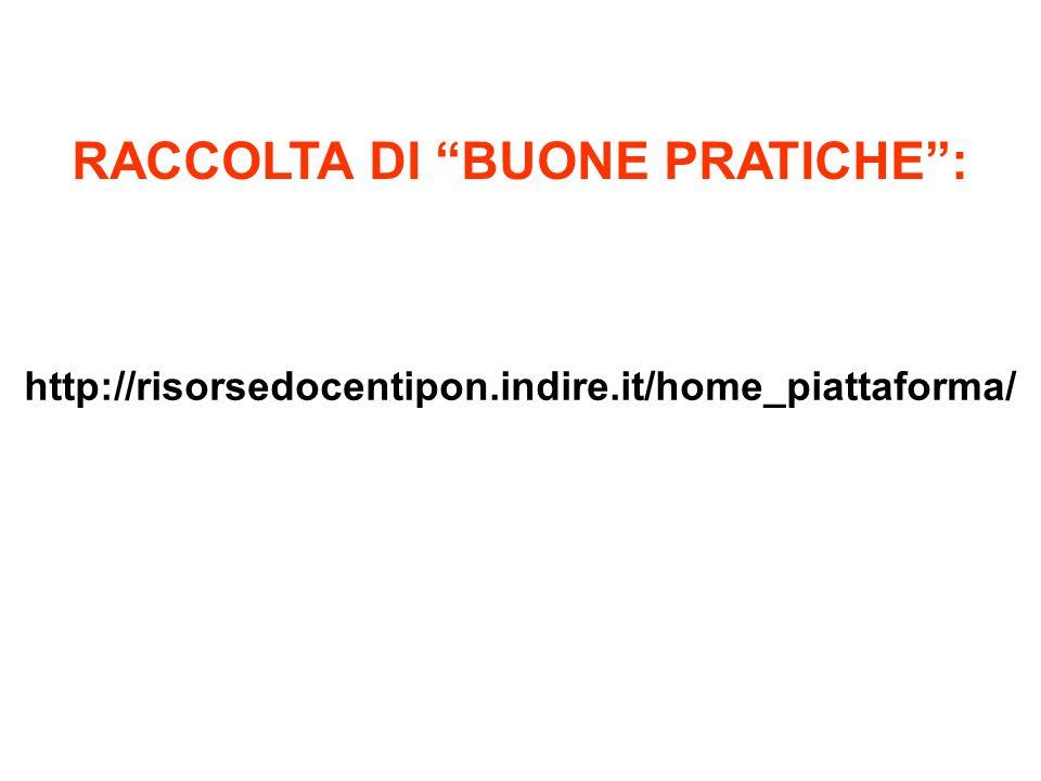 RACCOLTA DI BUONE PRATICHE :
