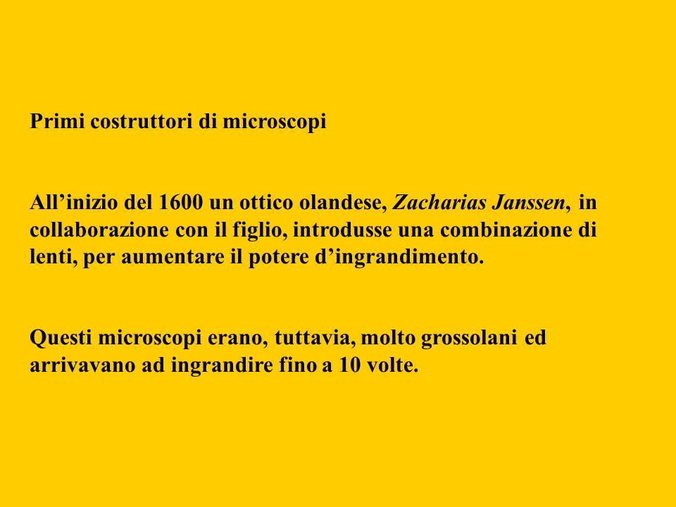 Primi costruttori di microscopi