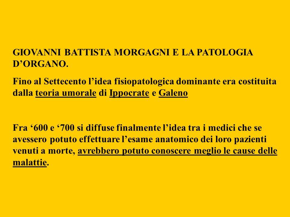 GIOVANNI BATTISTA MORGAGNI E LA PATOLOGIA D'ORGANO.