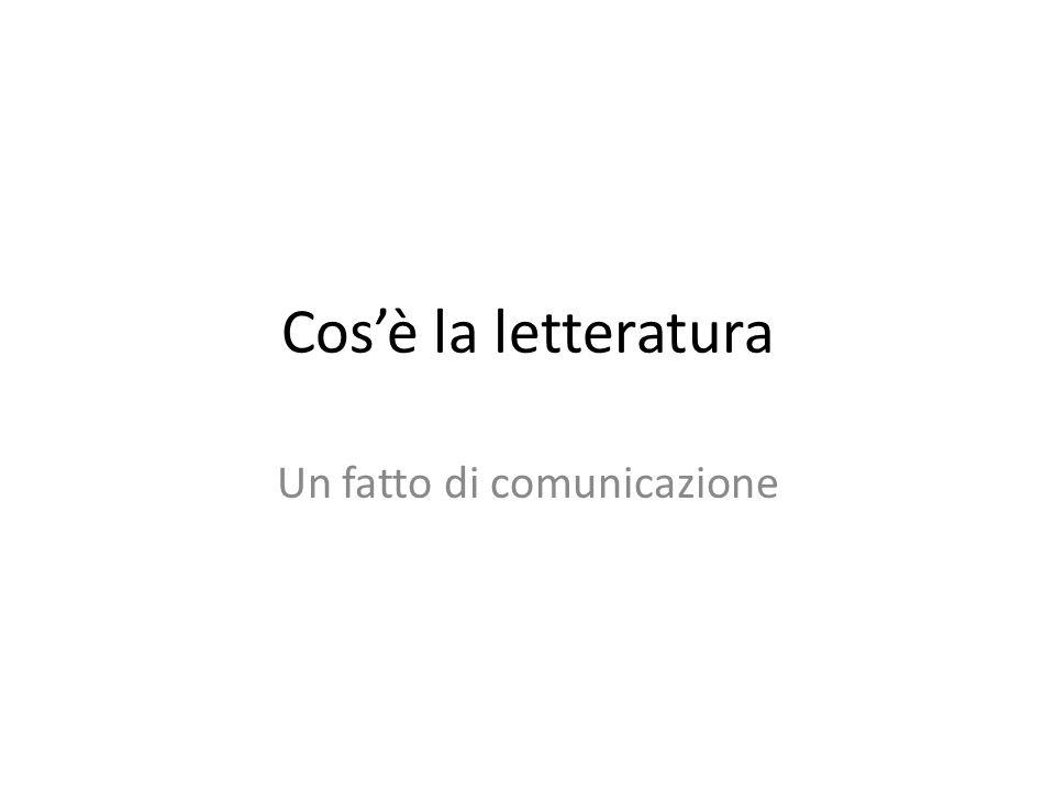 Un fatto di comunicazione