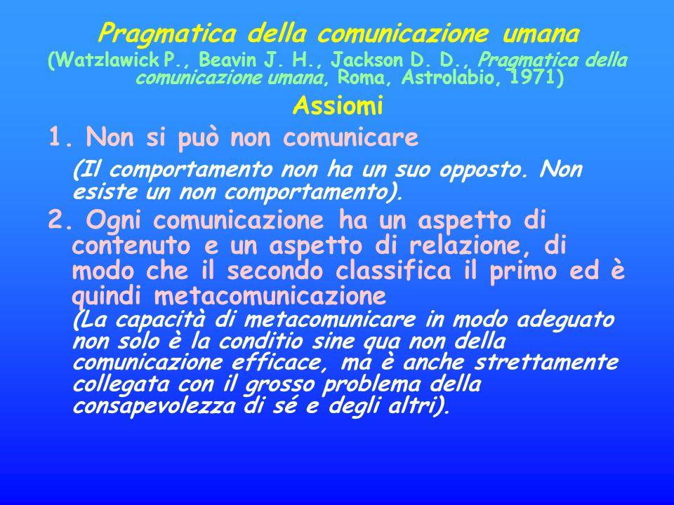 Pragmatica della comunicazione umana