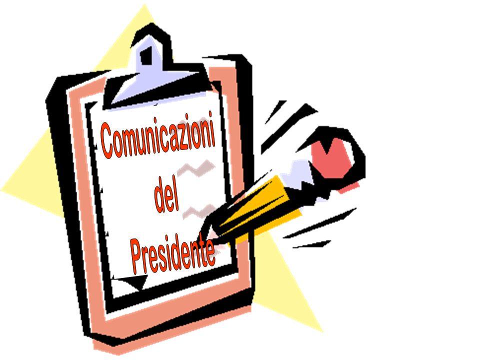 Comunicazioni del Presidente