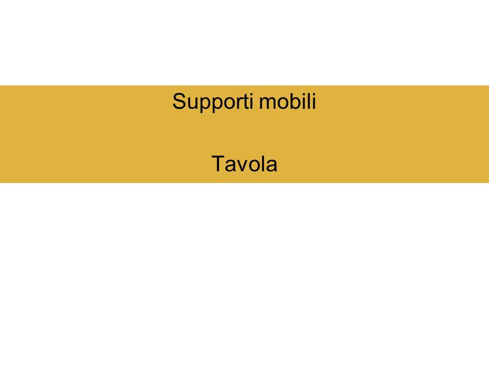 Supporti mobili Tavola