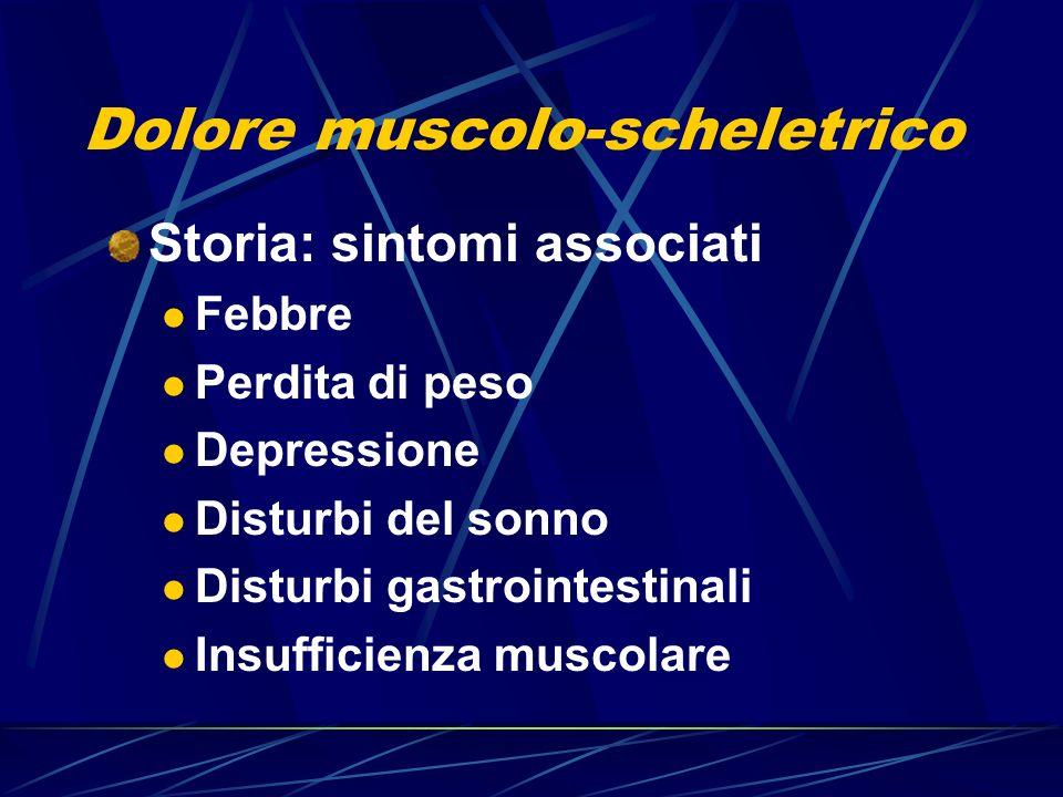 Dolore muscolo-scheletrico