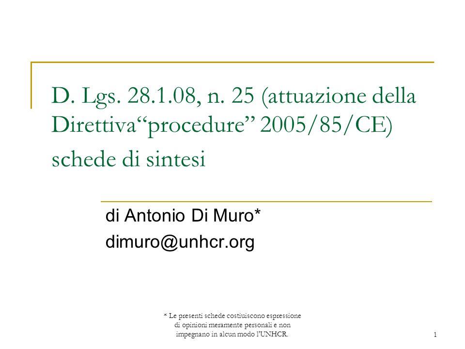 di Antonio Di Muro* dimuro@unhcr.org