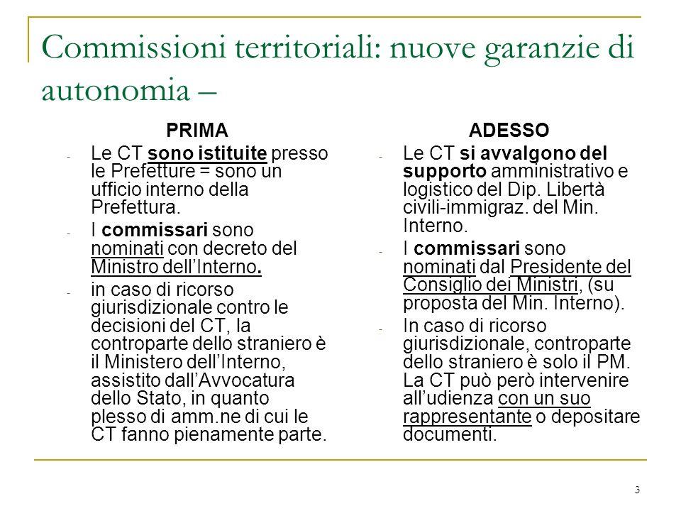 Commissioni territoriali: nuove garanzie di autonomia –