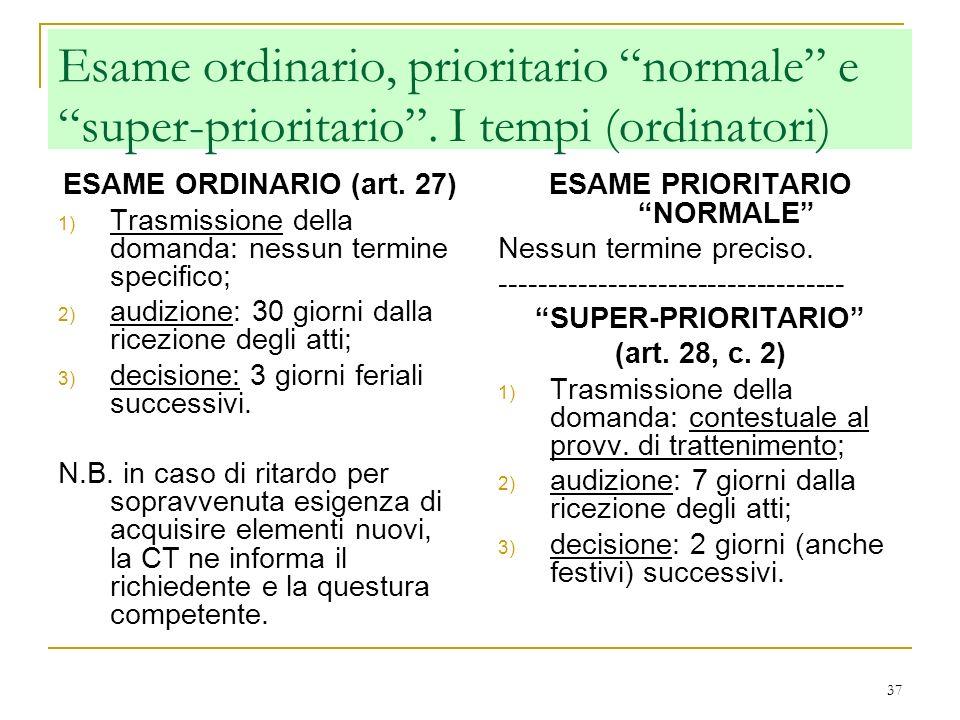 ESAME PRIORITARIO NORMALE
