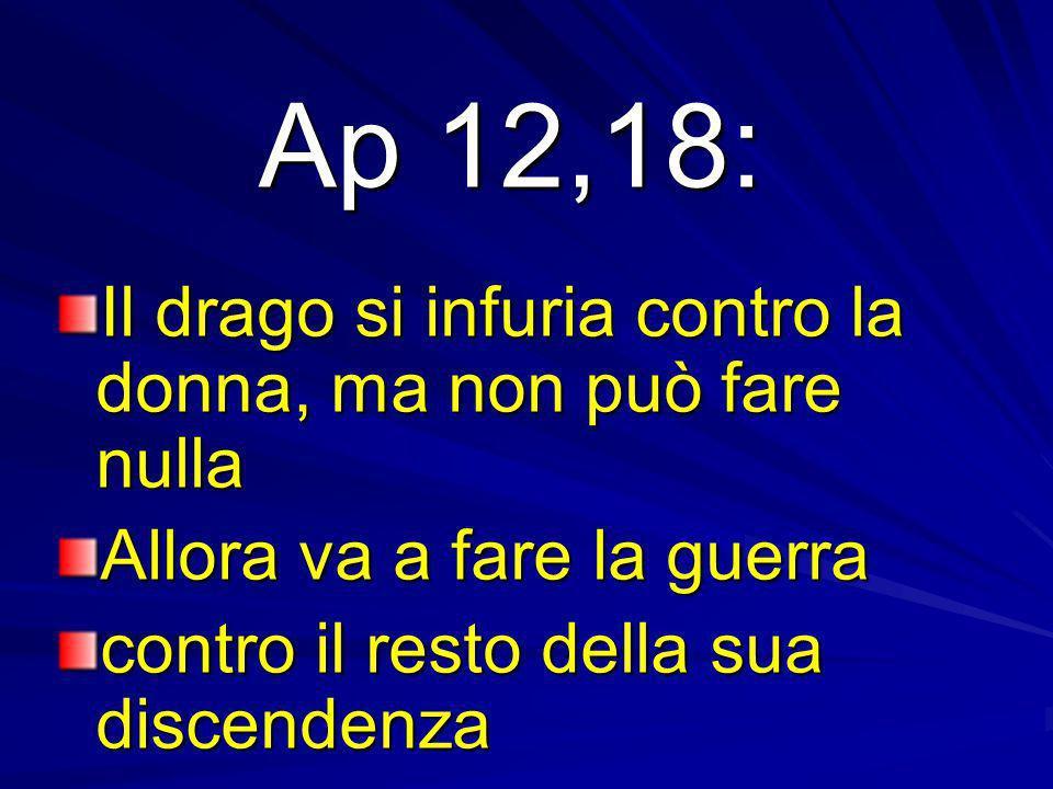 Ap 12,18: Il drago si infuria contro la donna, ma non può fare nulla