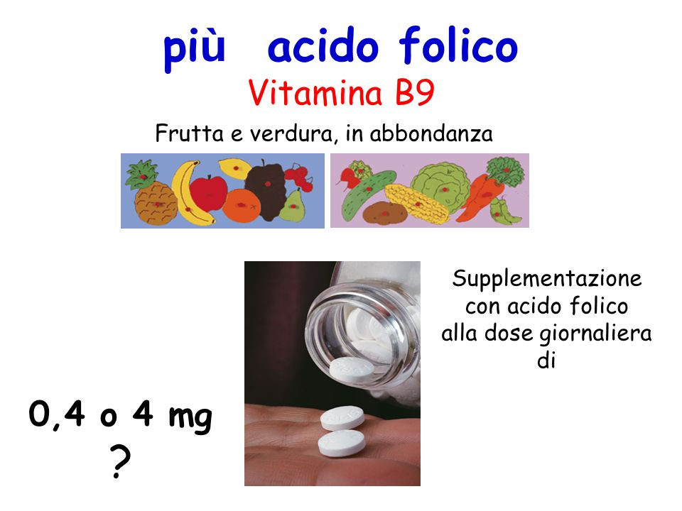 più acido folico Vitamina B9