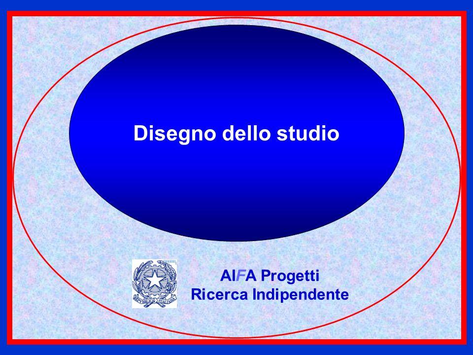 Disegno dello studio AIFA Progetti Ricerca Indipendente