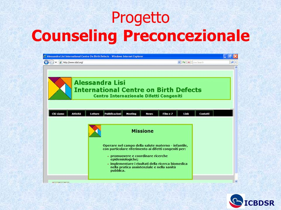 Progetto Counseling Preconcezionale