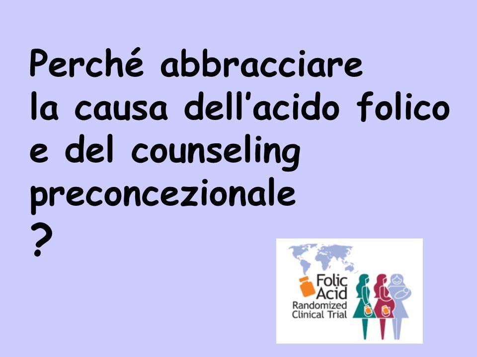 Perché abbracciare la causa dell'acido folico e del counseling preconcezionale