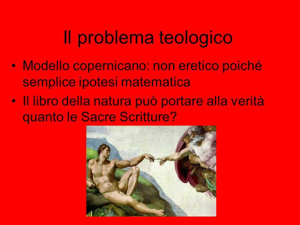 Il problema teologico Modello copernicano: non eretico poiché semplice ipotesi matematica.