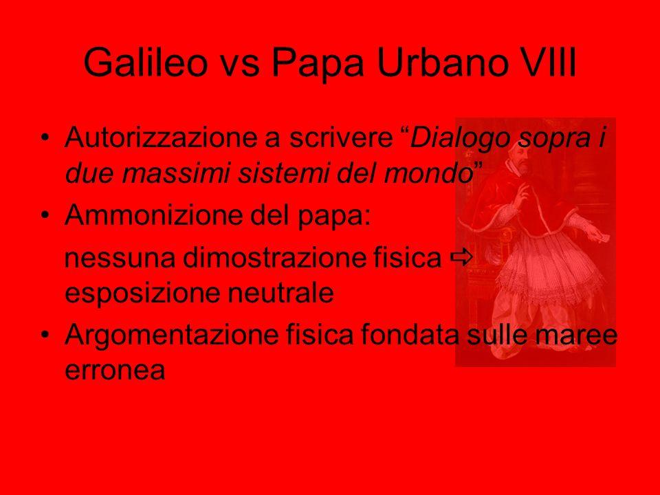 Galileo vs Papa Urbano VIII