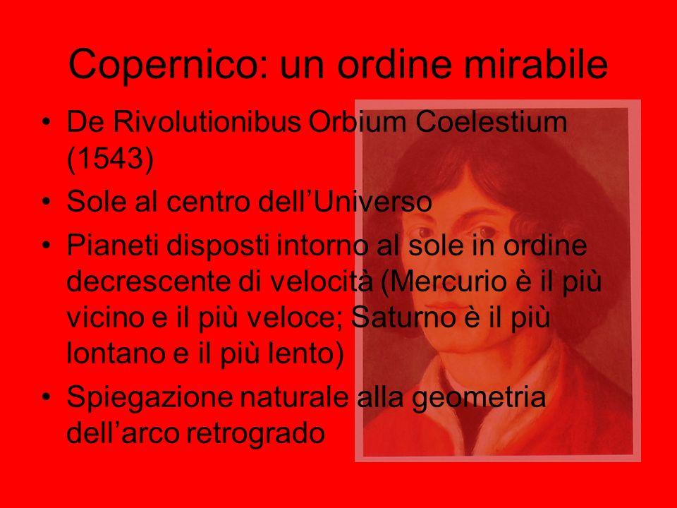 Copernico: un ordine mirabile