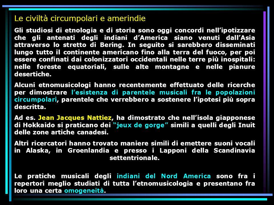 Le civiltà circumpolari e amerindie