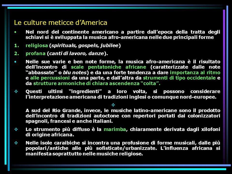 Le culture meticce d'America