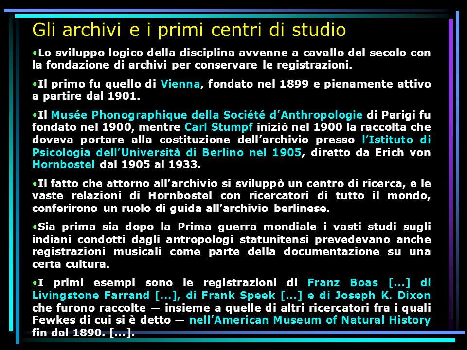 Gli archivi e i primi centri di studio