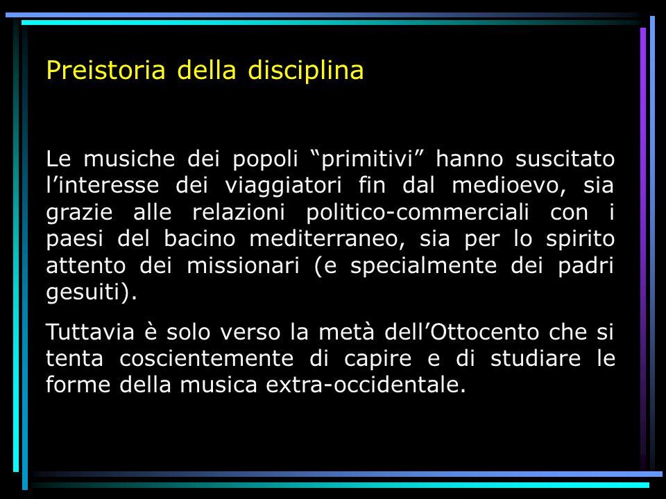 Preistoria della disciplina
