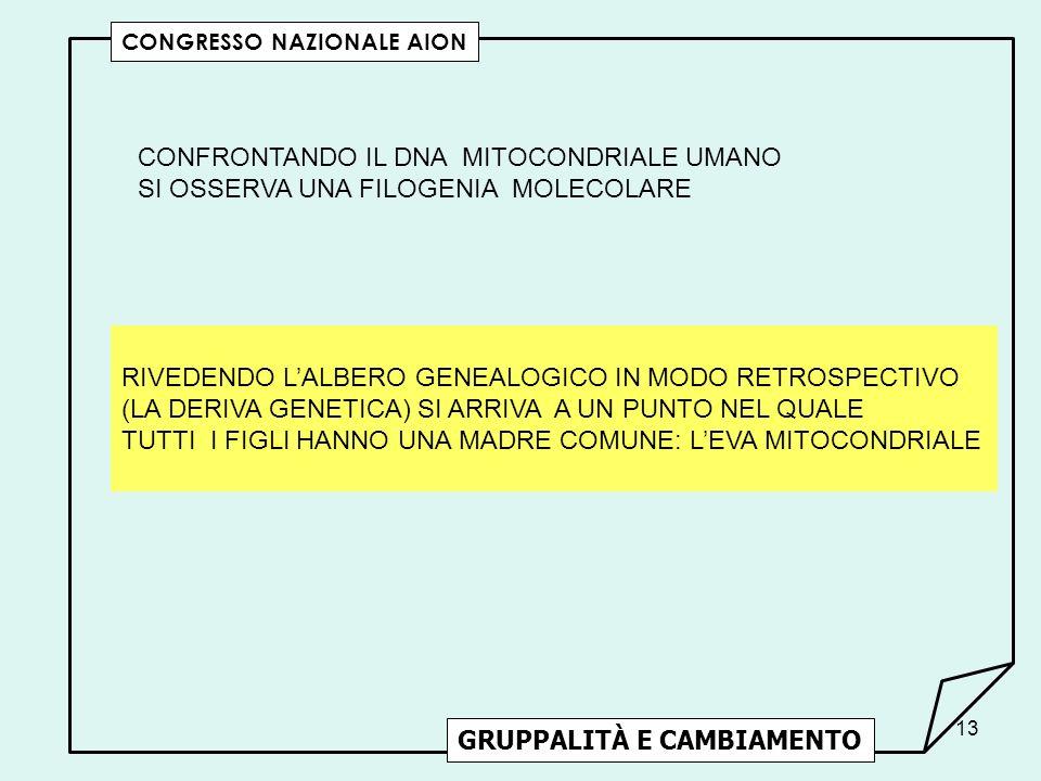 CONFRONTANDO IL DNA MITOCONDRIALE UMANO