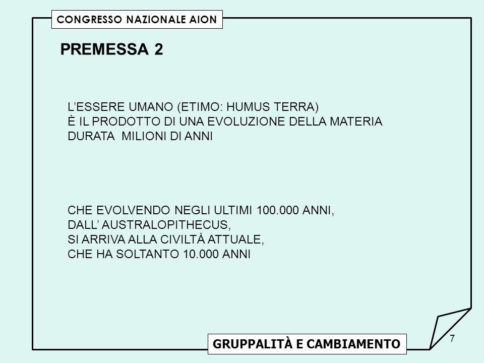 PREMESSA 2 L'ESSERE UMANO (ETIMO: HUMUS TERRA)