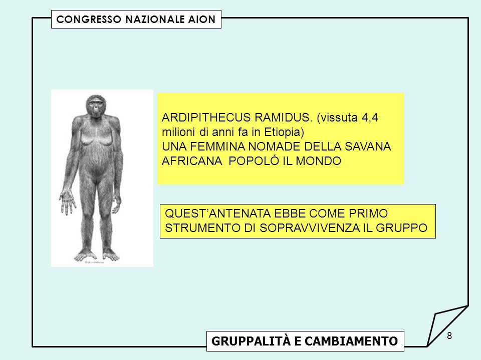ARDIPITHECUS RAMIDUS. (vissuta 4,4 milioni di anni fa in Etiopia)