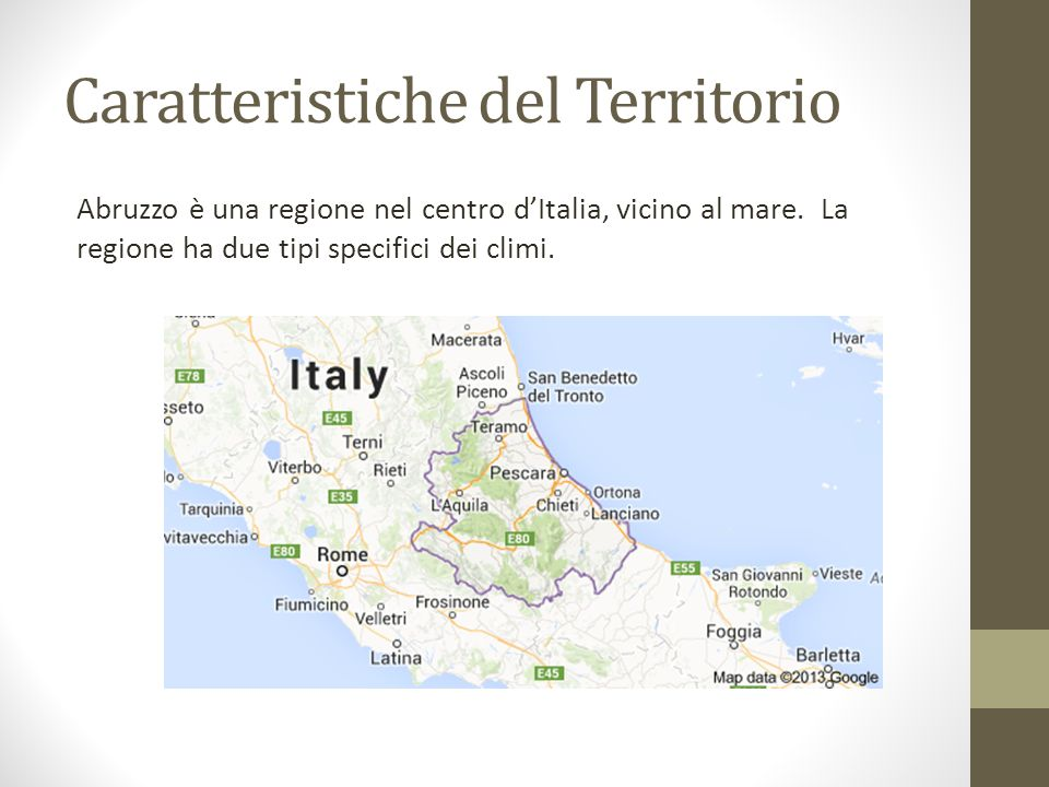 Caratteristiche del Territorio