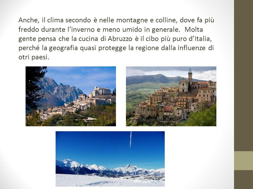 Anche, il clima secondo è nelle montagne e colline, dove fa più freddo durante l'inverno e meno umido in generale.