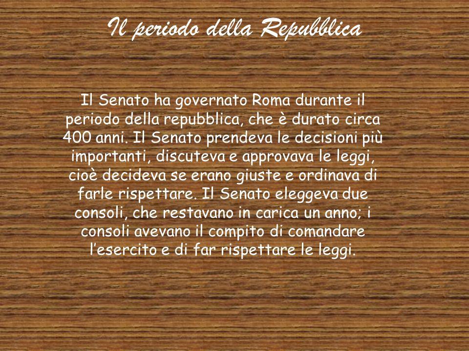 Il periodo della Repubblica