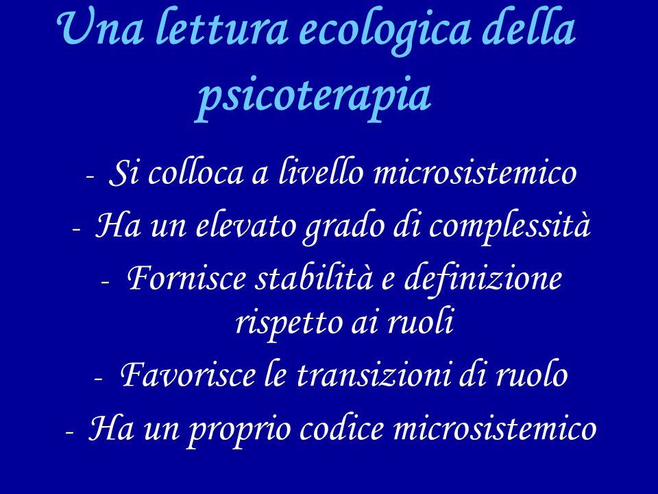 Una lettura ecologica della psicoterapia