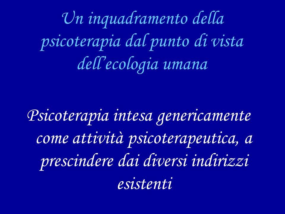 Un inquadramento della psicoterapia dal punto di vista dell'ecologia umana