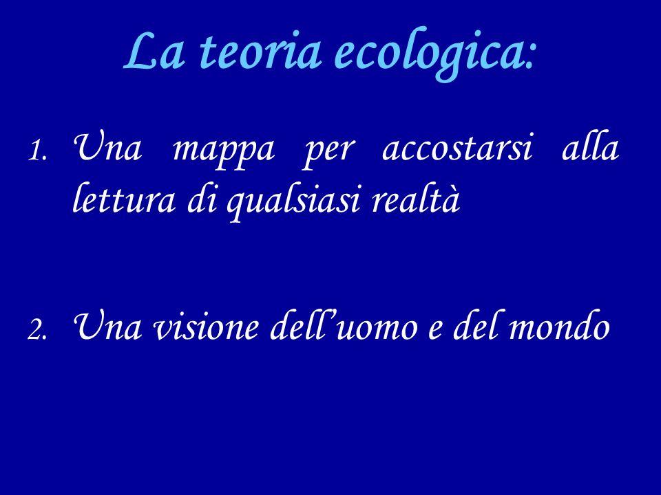 La teoria ecologica: Una mappa per accostarsi alla lettura di qualsiasi realtà.