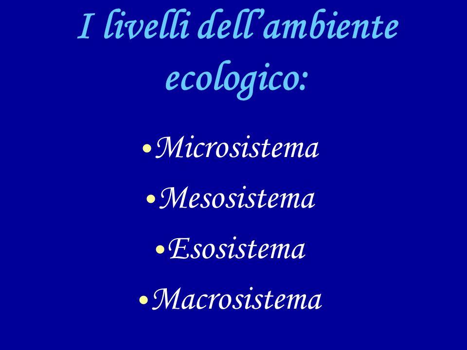 I livelli dell'ambiente ecologico: