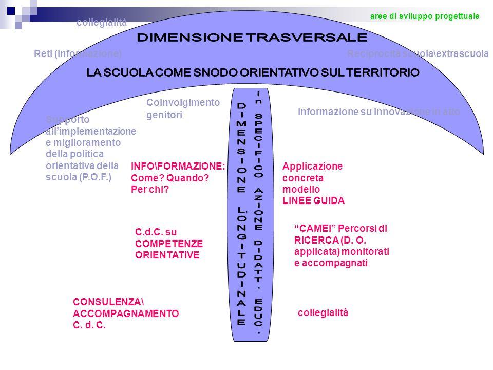 , collegialità DIMENSIONE TRASVERSALE Reti (informazione)