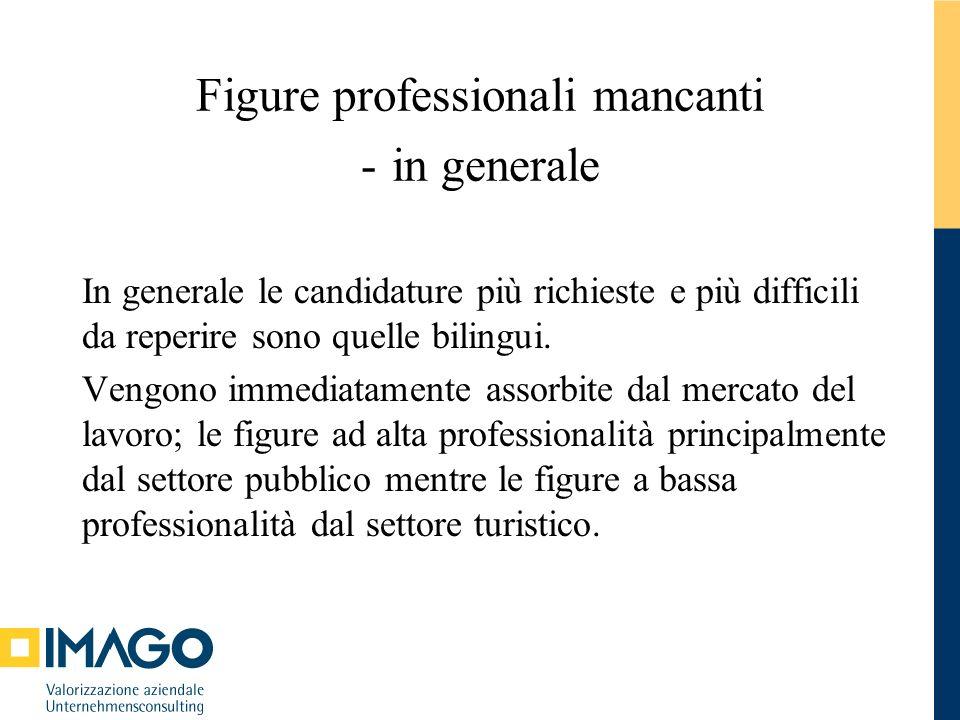 Figure professionali mancanti - in generale