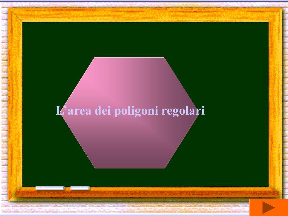 L'area dei poligoni regolari