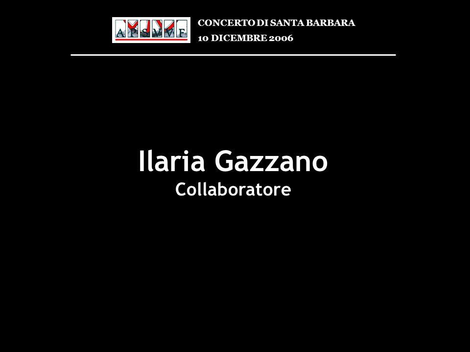 Ilaria Gazzano Collaboratore CONCERTO DI SANTA BARBARA
