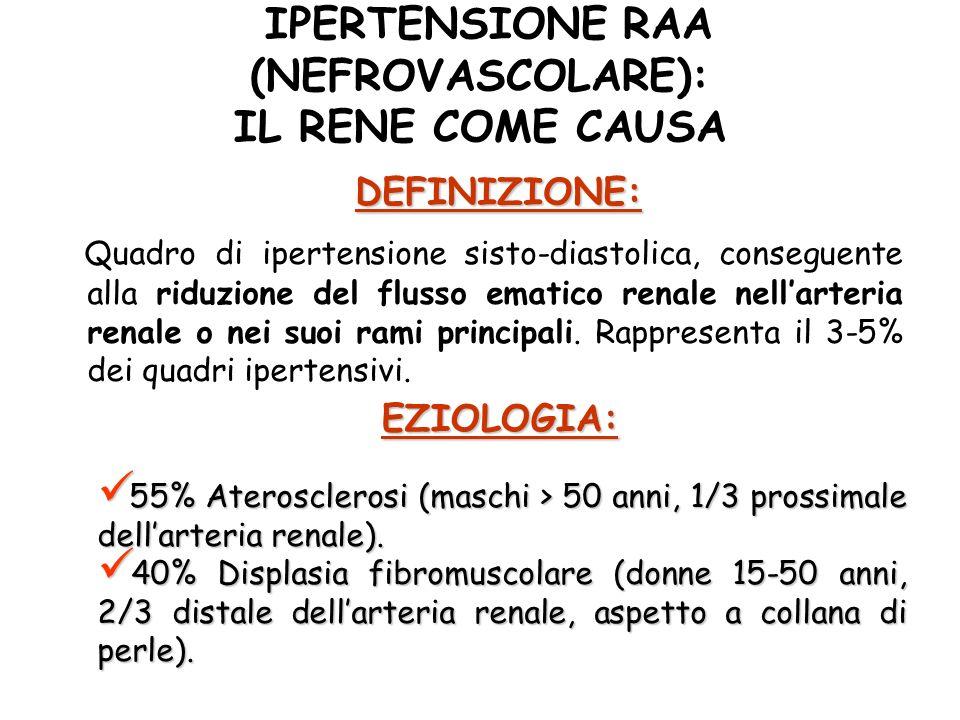 IPERTENSIONE RAA (NEFROVASCOLARE): IL RENE COME CAUSA