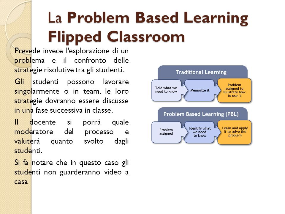 La Problem Based Learning Flipped Classroom