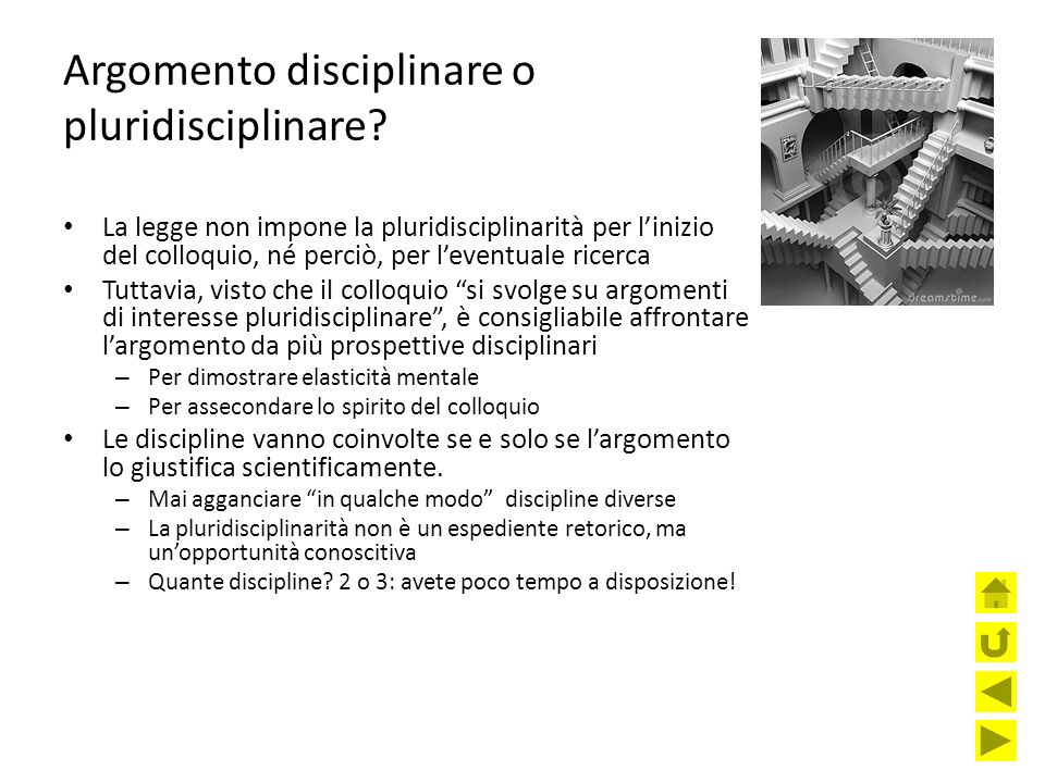 Argomento disciplinare o pluridisciplinare