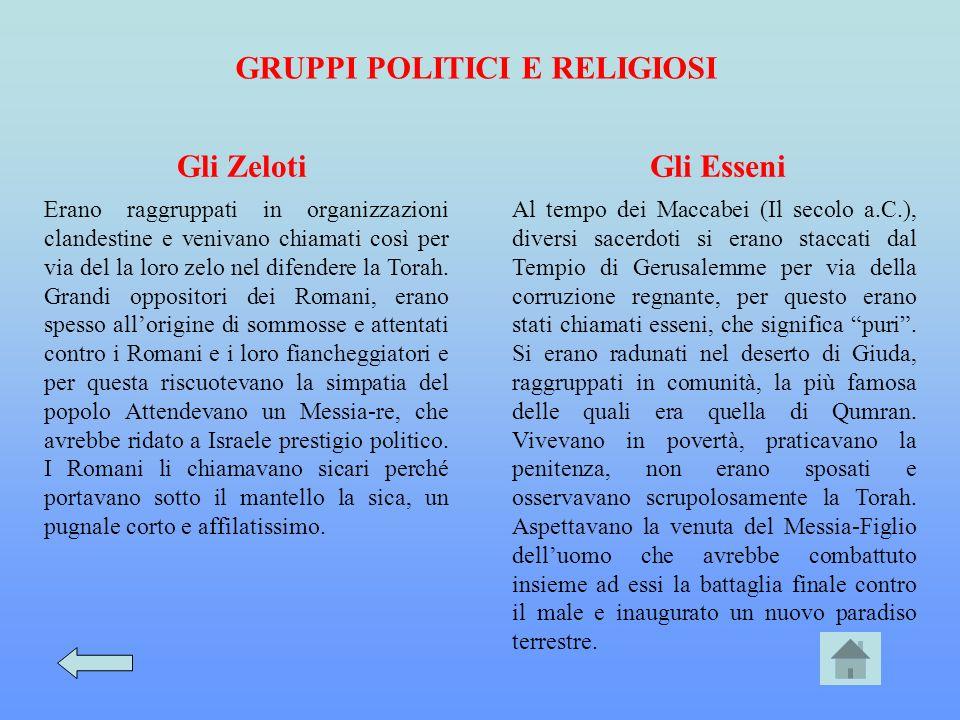 GRUPPI POLITICI E RELIGIOSI