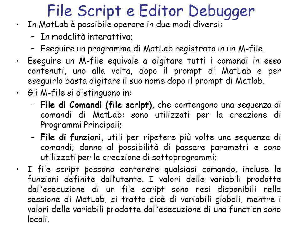 File Script e Editor Debugger