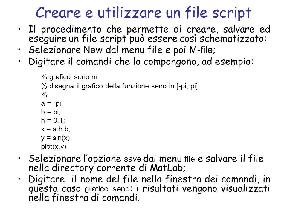 Creare e utilizzare un file script