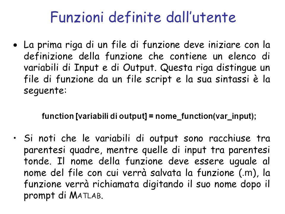 Funzioni definite dall'utente