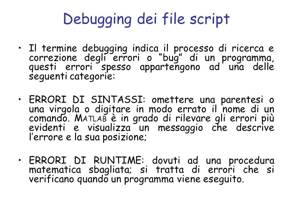 Debugging dei file script