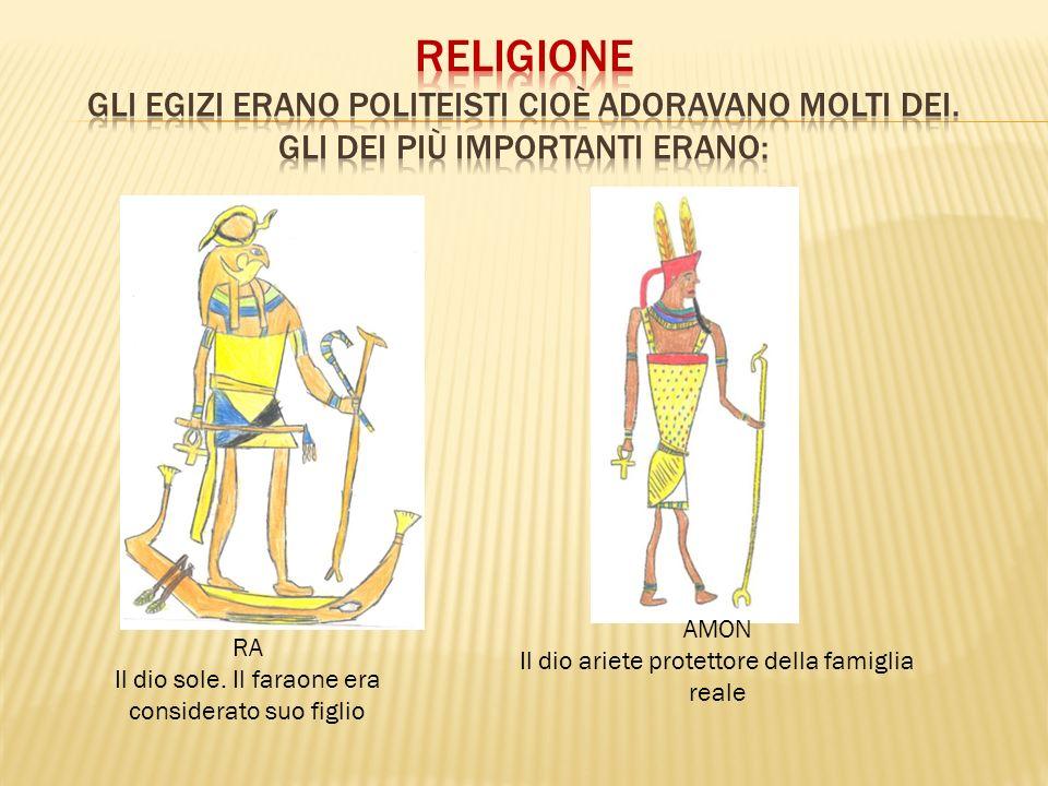 RELIGIONE Gli Egizi erano POLITEISTI cioè adoravano molti dei